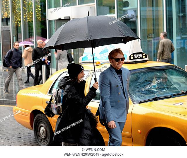 Cast of Snatch seen filming a scene in Manchester City Centre. The Scene is set in New York. Featuring: Rupert Grint Where: Manchester
