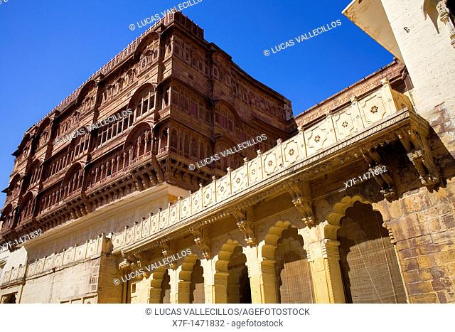Mehrangarh Fort,inside of the fort,Jodhpur, Rajasthan, India