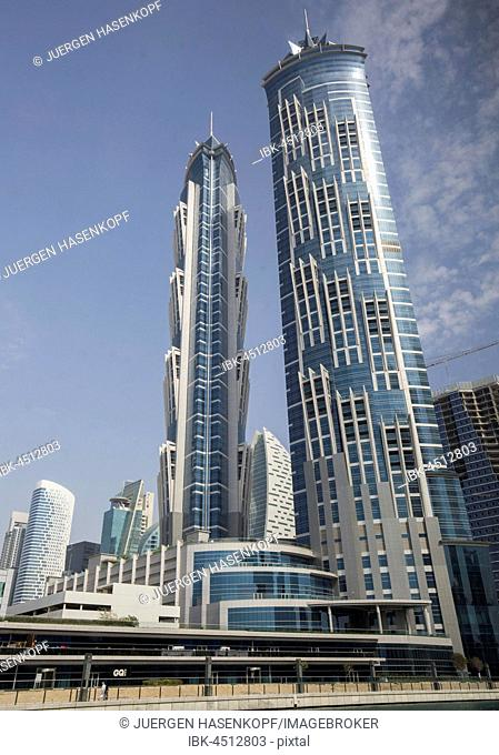 Towers from JW Marriott Marquis Hotel, Luxury Hotel, Dubai, United Arab Emirates