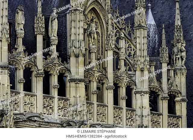 France, Seine Maritime, Rouen, Courthouse, ex Normandy Parliament House in flamboyant gothic style