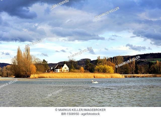 The Werd monastery island in Stein am Rhein, Eschenz, Canton Thurgau, Switzerland, Europe