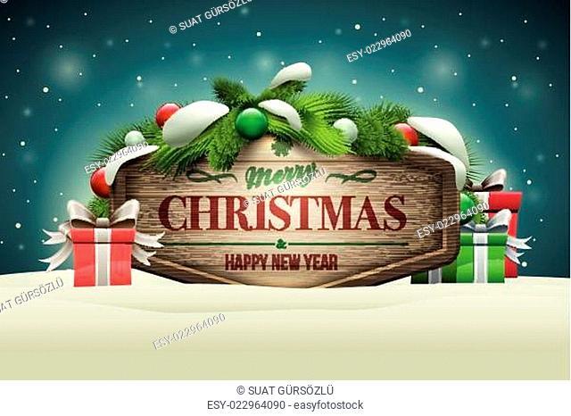 Wooden Christmas Signboard