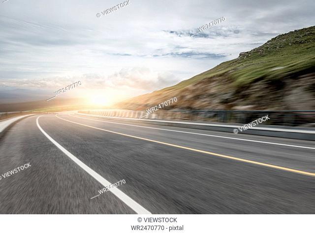 Jilin changbai mountain scenic mountain roads