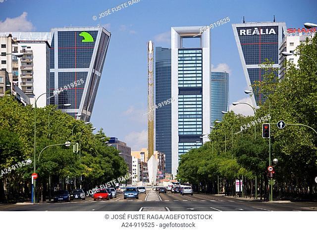 Kio Towers, Paseo de la Castellana, Madrid, Spain