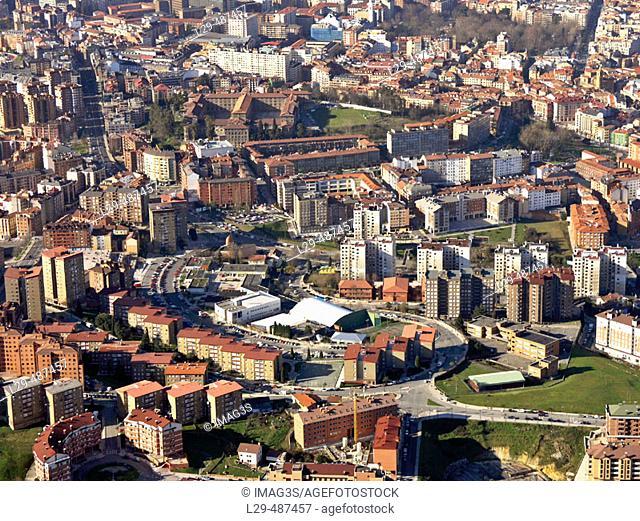Otero and Santo Domingo neighbourhoods. Oviedo. Asturias. Spain