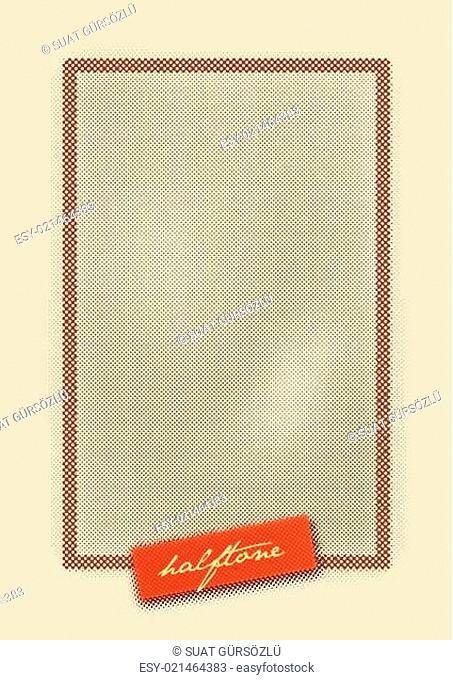 Halftone Pattern Design Background