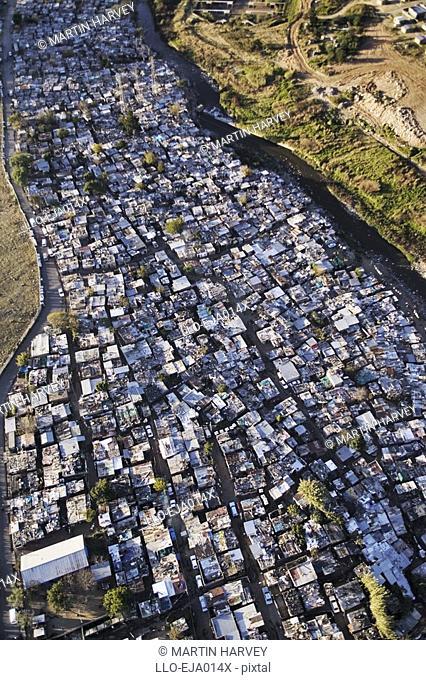 Aerial View of Diepsloot Squatter Camp  Johannesburg, Gauteng Province, South Africa