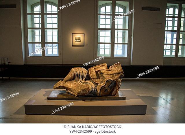 'Odalisque' sculpture by Ossip Zadkine, 1932, Reattu Museum, Arles, Bouches-du-Rhone, France