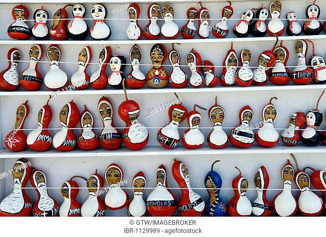 Painted gourds representing Saint Nicholas, Myra, Demre, Turkey