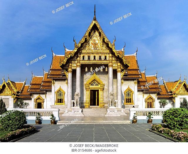 Wat Benchamabopit, temple made of Carrara marble, ubosot, temple in the Dusit district