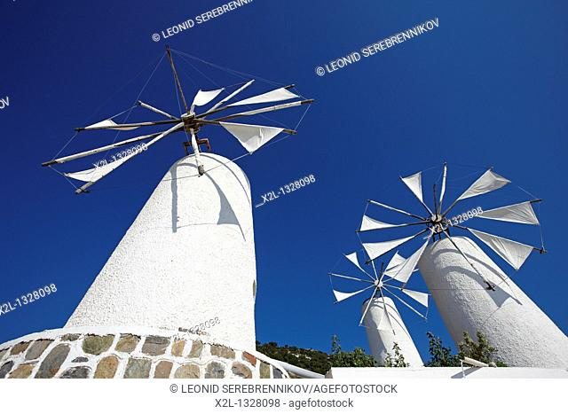 Windmills  Lasithi Plateau, Crete, Greece