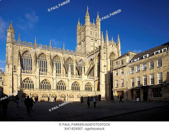 Bath Abbey, Bath, England, UK
