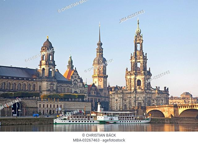 View at the historical city centre, Old Town, Dresden, Saxon, Germany