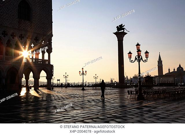 Piazza San Marco, At Dawn, Sunrise, Vencie, Italy
