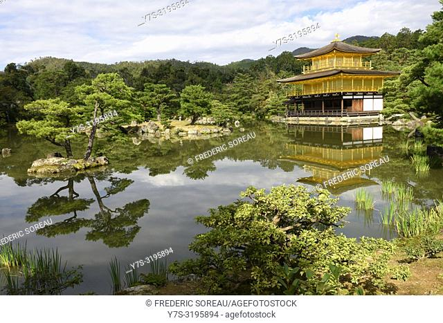 Kinkaku-ji, temple of the Golden Pavilion, Kyoto, Japan, Asia