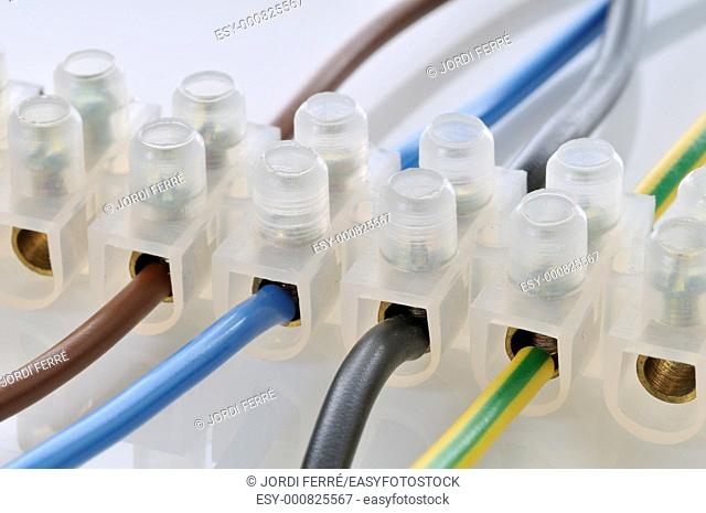 luster terminal or lustre terminal with cables
