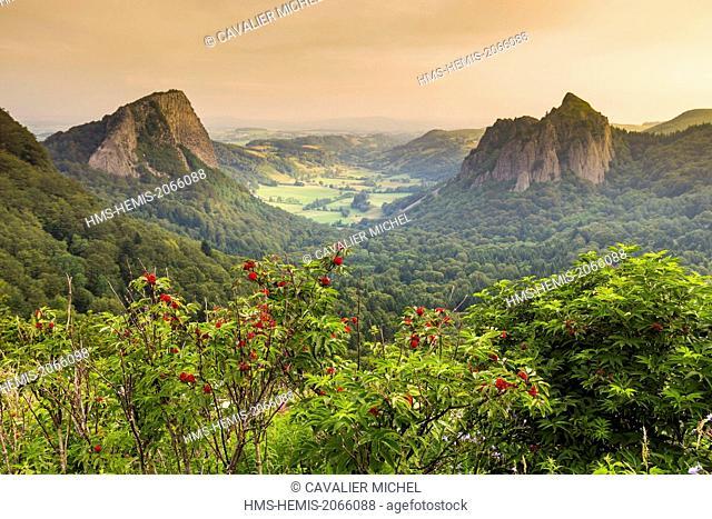 France, Puy de Dome, Parc Naturel Regional des Volcans d'Auvergne (Regional natural park of the volcanoes of Auvergne), Mont Dore, Pass of Guery