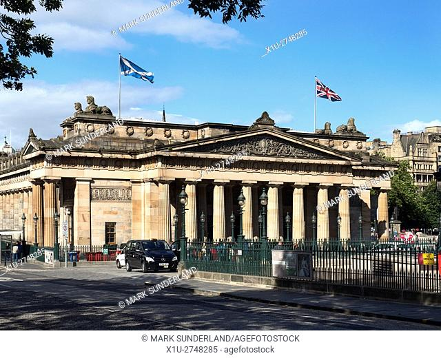 Scottish National Gallery Edinburgh Midlothian Scotland