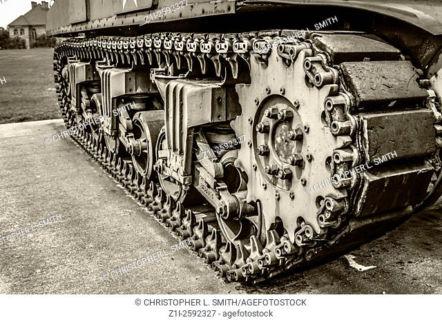 Sherman Tank from WW2 on display at a Veterans Hospital in Ohio