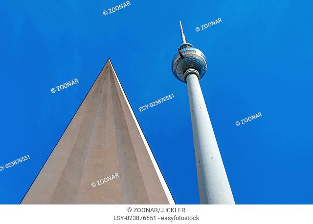 The famous Television Tower at Alexeanderplatz in