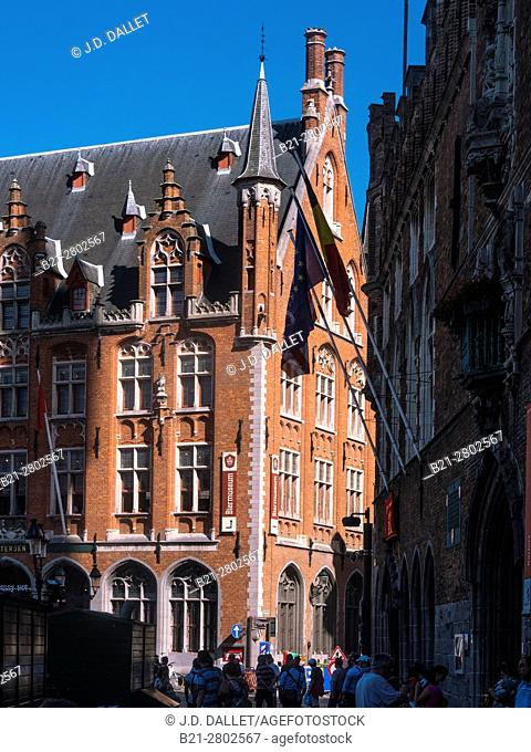Belgium, Bruges- on the Markt (Gran Place)