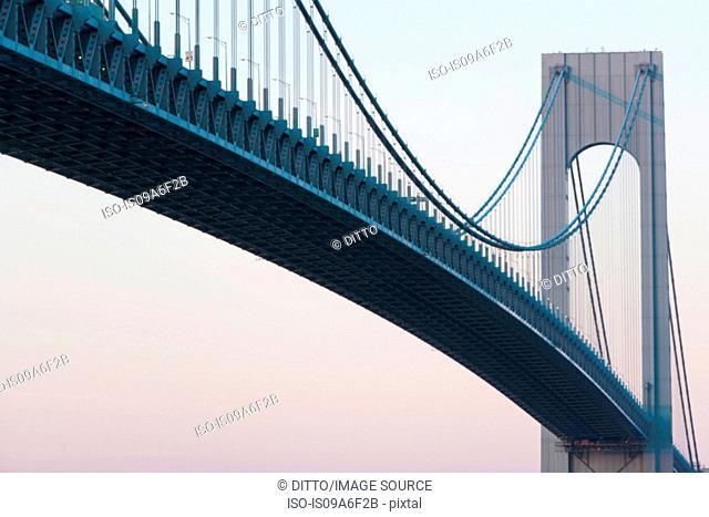 Verrazano-narrows bridge at sunrise, New York City, USA