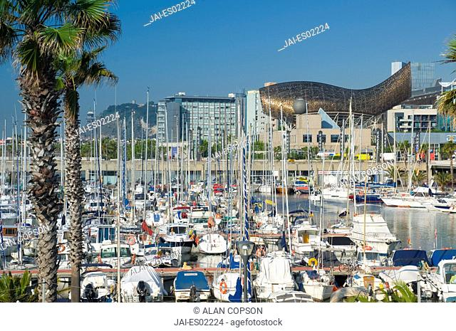 Spain, Barcelona, Port Olimpic