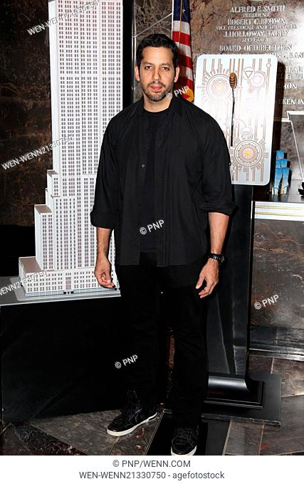 Illusionist David Blaine and President and CEO of Liberty Science Center Paul Hoffman to Light The Empire State Building in honor of Liberty Science Center's...