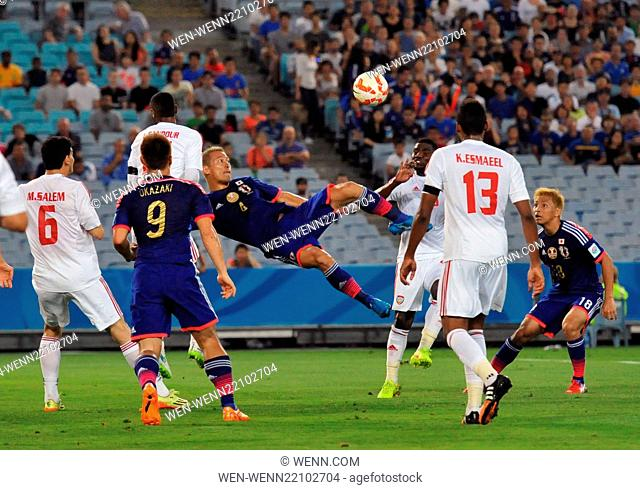 The United Arab Emirites has beaten Japan in the quarter finals of the Asian Football Championship Featuring: Keisuke Honda Where: Sydney