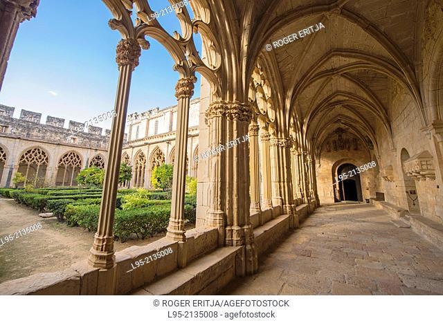 Gothic cloister of the Monastery of Santes Creus, Spain
