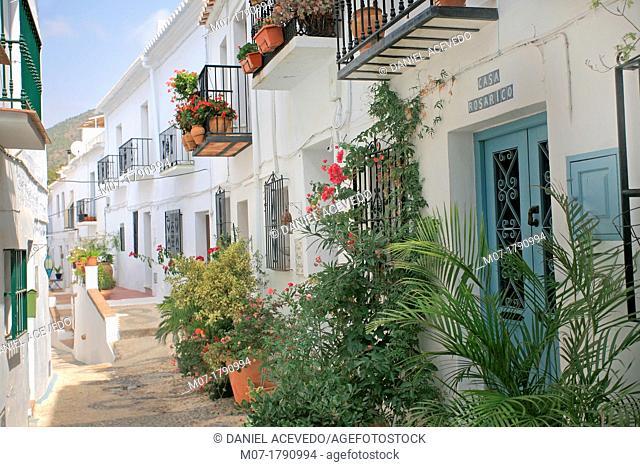 Frigiliana village, Malaga, Costa del Sol, Andalucia, Spain
