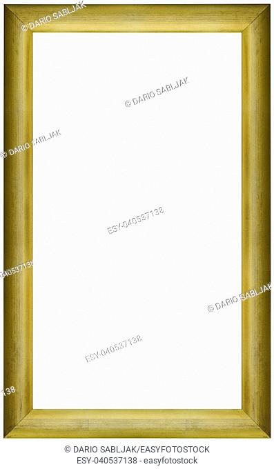 Simple Old Golden Picture Frame Cutout