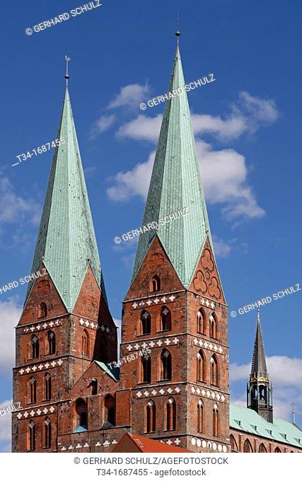 St  Marien's Church, Hanseatic City of Lübeck, Schleswig-Holstein, Germany