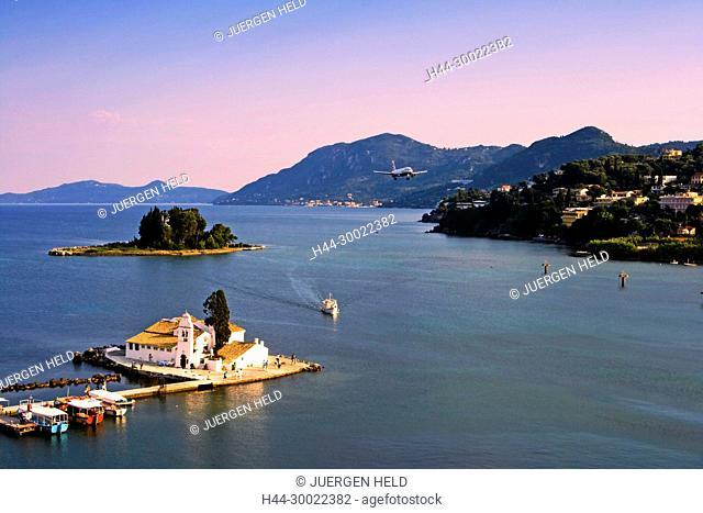 abby, airplane, architecture, Architektur, attraction, Boot, Boote, bridge, building, convent, Corfu, culture, EU, Europa, Europaeische Union, europe, greece