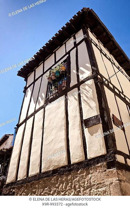 Typical house in Covarrubias. Burgos. Spain