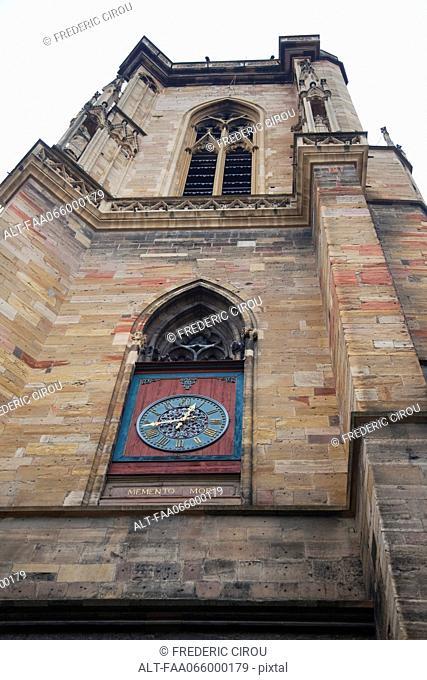 Clock tower of Saint Martin Church, Colmar, France