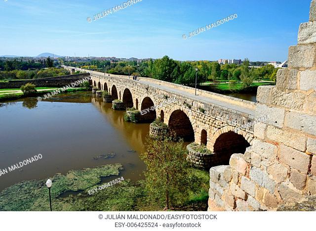 Roman bridge in Mérida, Spain