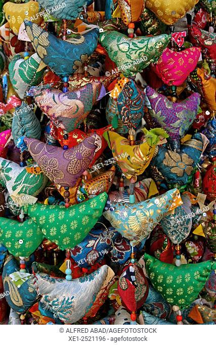 Decorative beading, Souvenirs, Barcelona, Catalonia, Spain