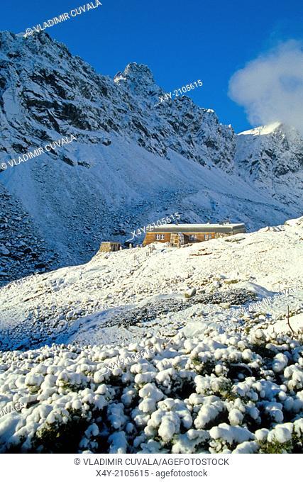 The mountain refuge Zbojnicka chata, Velka Studena dolina, High Tatras