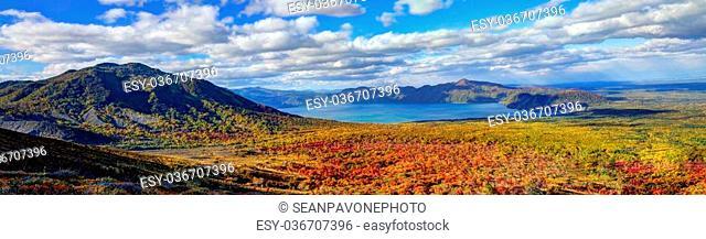 Landscape in Shikotsu-Toya National Park in Hokkaido, Japan