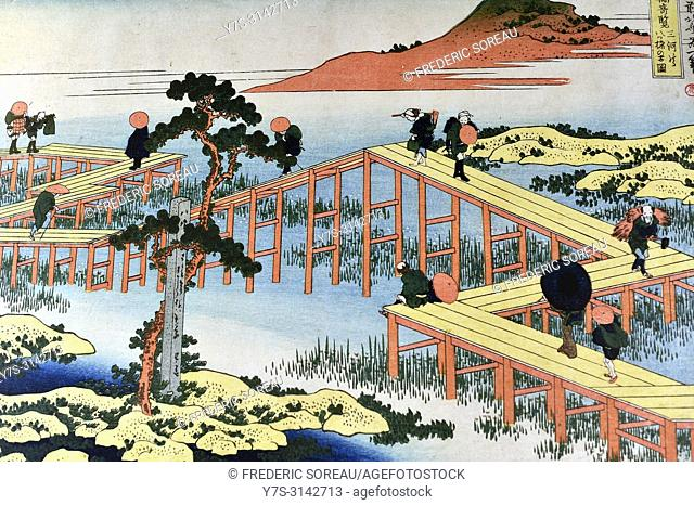 Traditional japanse painting by Ando Hiroshige,Japan,Asia