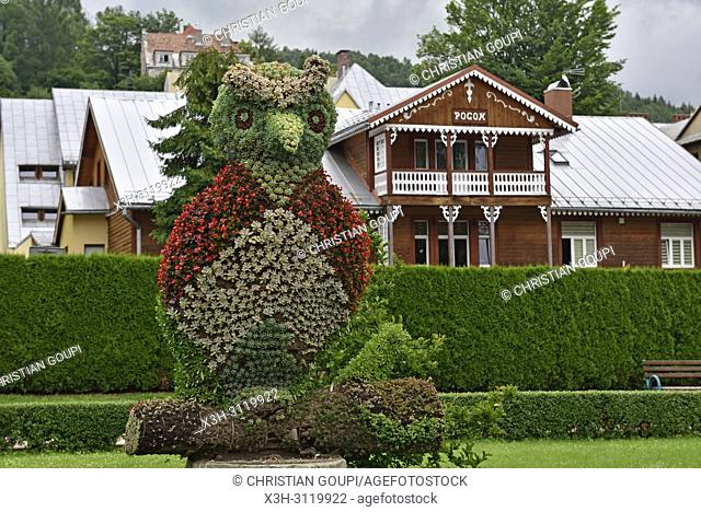 plant sculpture in a public garden of Krynica-Zdroj, the biggest spa town in Poland, Malopolska Province (Lesser Poland), Poland, Central Europe
