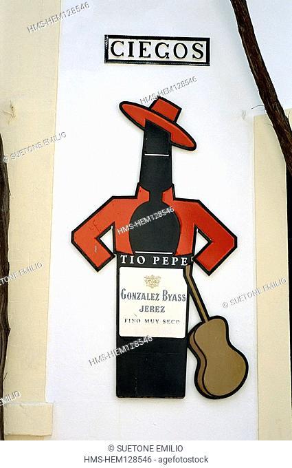 Spain, Andalusia, Jerez de la Frontiera, Bodega Gonzalo Byass, Producer of Tio Pepe Sherry