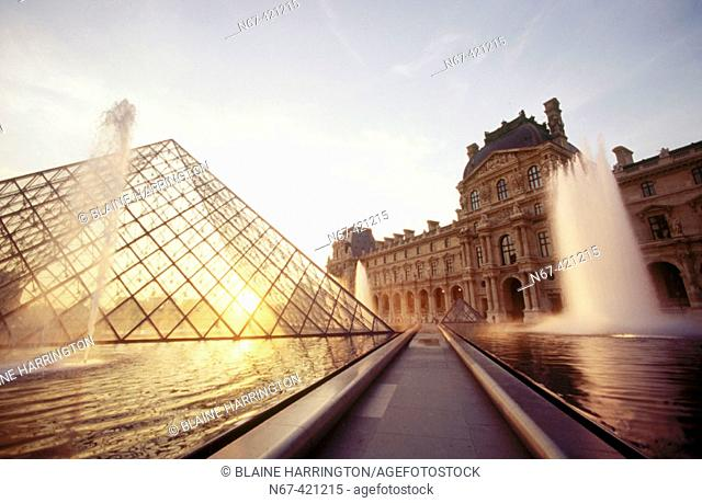 Louvre pyramid, Paris. France