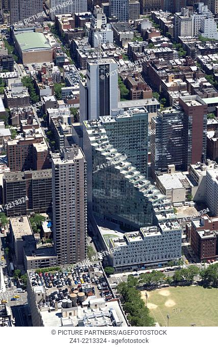 Aerial view of the Mercedes Benz Flagship store Manhattan, New York City