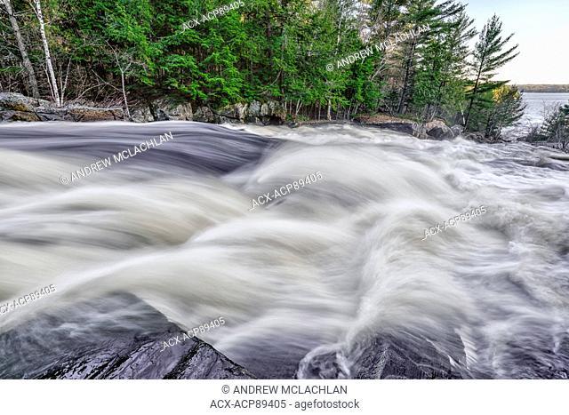 Lower Rosseau Falls on the Rosseau River in Muskoka near Rosseau, Ontario, Canada
