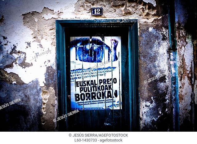 Door in Mundaka, Biscay, Spain