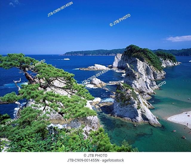 Jodogahama, Rikuchu coast, Miyako, Iwate, Japan