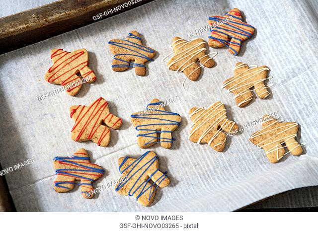 Cookies with Colorful Drizzled Icing