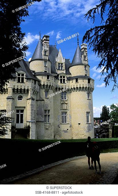 France, Loire Region, Near Chinon, Usse Chateaux, View of Castle